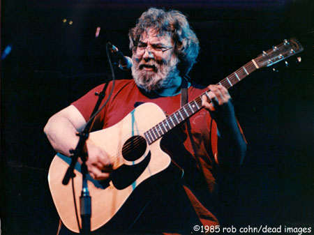 "Jerry Picture of Jerry Garcia, May 23, 1985, Denver, CO, ""She Belongs To Me"" - ©robbi cohn dead images"