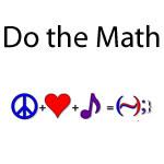 Happiness Equation ☮ + ♥ + ♪ = (~);}
