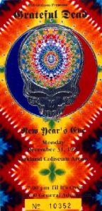 Grateful Dead New Years Eve Ticket