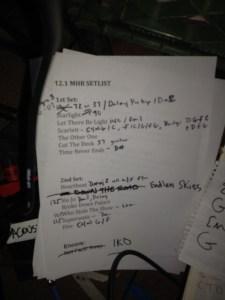 Mickey Hart Band Setlist 12.1.2011 Seattle - Tractor Tavern photo by @wajiii