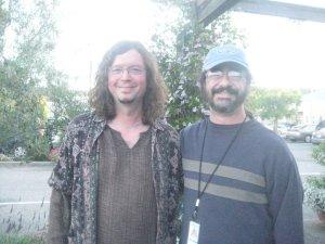 >^.^< and John Kadlecik, outside the Palm Ballroom 6/2/2010 - Furthur Rehearsals