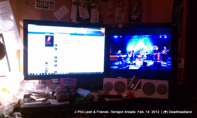 Deadheadland Command Central for Phil And Friends webcast