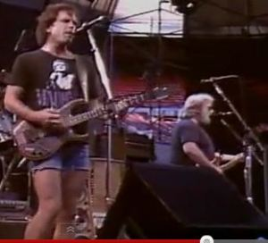 Bob Weir wearing a Madonna T-Shirt with the Grateful Dead