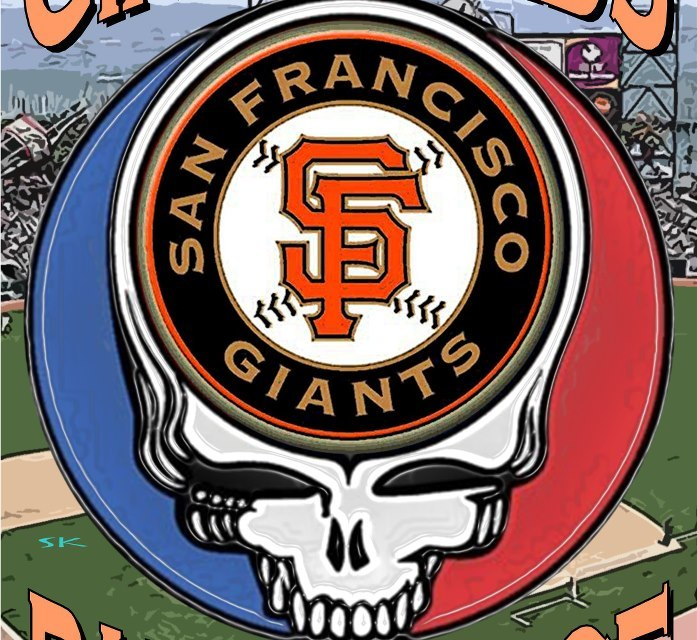 Phil Lesh, Bob Weir, Tim Flannery, National Anthem at Giants Vs. St. Louis game