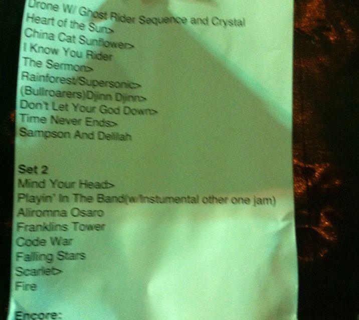 SETLIST & Stella Blue Video: Mickey Hart Band in Jerusalem, Israel, August 22, 2013