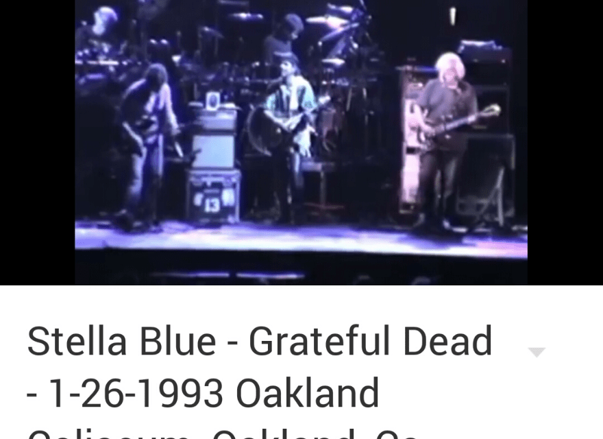 "VIDEO: ""Stella Blue"" Grateful Dead – 1-26-1993 Oakland Coliseum"