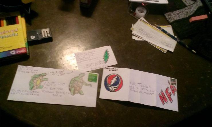 Deadhead ENvelope Art for Dead 50 orders (3)