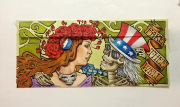 Deadhead Envelope art for Dead50 Mail Order (28)