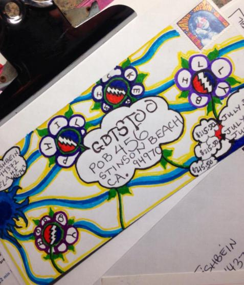 Deadhead Envelope art for Dead50 Mail Order (9)