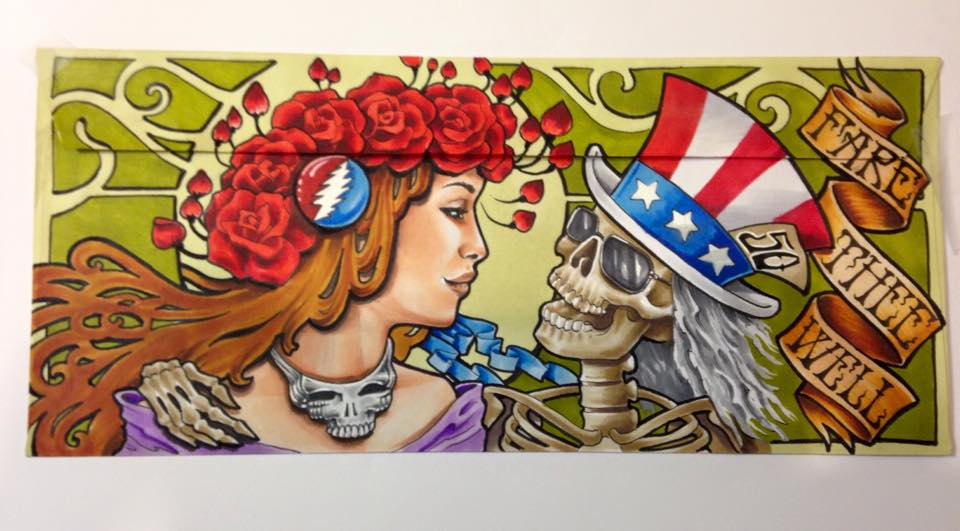 Awesome Grateful Dead Mail Order Envelope art shared by DHL fans #Dead50