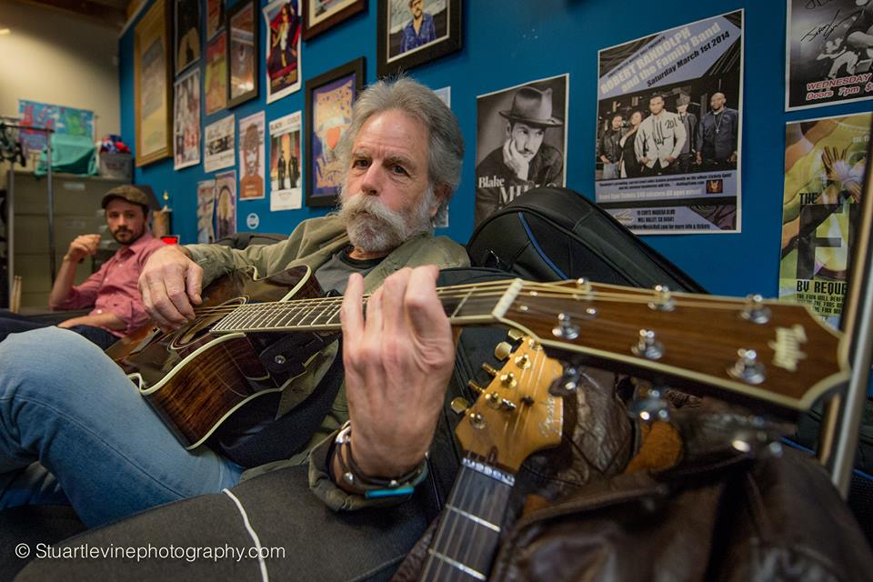 Bob Weir at Sweetwater backstage - photo by Stuart Levine