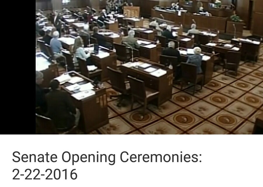 "Garcia Birthday Band Perform Grateful Dead ""Ripple"" at Oregon Senate Opening Ceremonies 2-22-2016"
