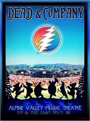 SETLIST: Dead & Company Summer Tour 2016 | Alpine Valley, Elkhorn WI,  Saturday July 9th 2016