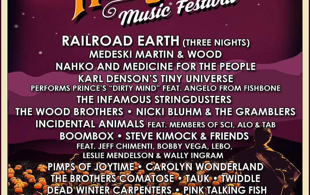 FESTIVAL!Hangtown Music Festival! feat. Railroad Earth (3 nights!) AND OTHER DHL FAVES!Oct. 20 to 23rd 2016 PLACERVILLE CALIFORNIA