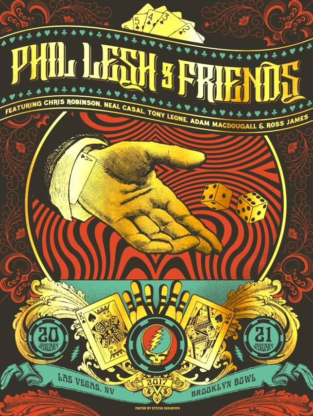 "SETLIST & FULL VIDEO: Phil Lesh and Friends do Grateful Dead ""American Beauty"" and ""Workingman's Dead"" Las Vegas, Friday January 20th 2017"