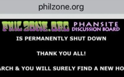 The Phil Zone website has permanently shut down…. Fare Thee Well my friends…
