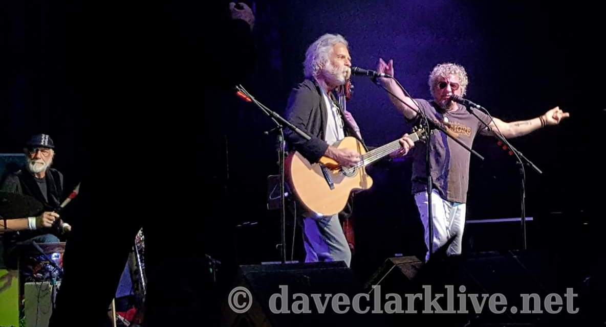 Weir Everywhere Dept: Acoustic 4 A Cure benefit, Bob Weir  w Mick Fleetwood, Steve Vai, Ruth Davies, Sammy Hagar – Acoustic For A Cure 2017