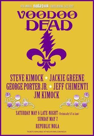 Setlist & Video: Voodoo Dead, Sunday May 7th, 2017, New Orleans, Steve Kimock, Papa Mali, Jackie Greene, Oteil Burbridge, Jeff Chimenti, Jay Lane, Wally Ingram