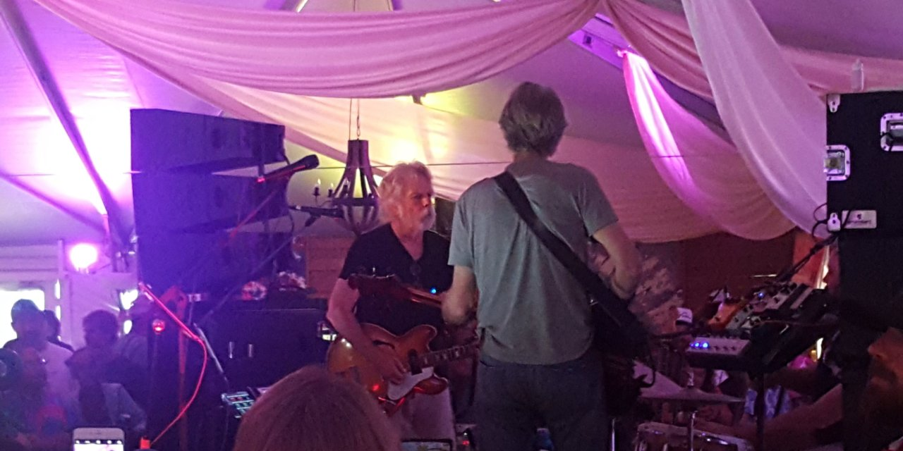 SETLIST & Video:Phil Lesh, Bob Weir, and Joe Russo |Super VIP Lounge, Lockn' Festival, Arrington VA | Saturday August 26 2017