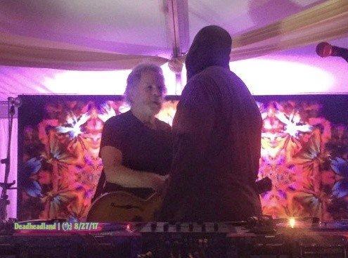WEIR EVERYWHERE DEPT: Bob Weir ~ Busiest Man at Lockn' Festival ~ sat in w DJ Logic during JRAD set!