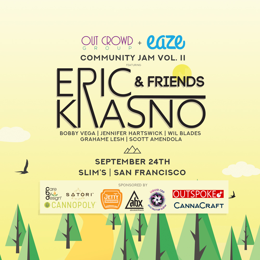 Win a Pair of Tickets to see Eric Krasno and Friends at Slim's on September 24, 2018 - A Benefit for Victims of the NorCal Wildfires
