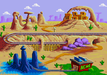 Desert Demolition Starring Road Runner and Wile E Coyote (Genesis) - 18