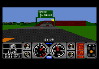 Hard Drivin' (Genesis) - 10