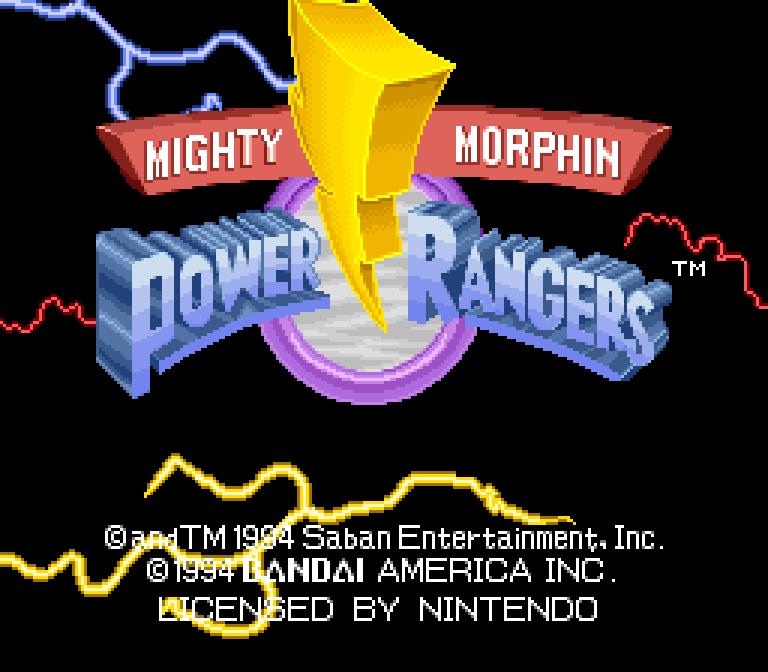 Mighty Morphin Power Rangers (SNES) - 01