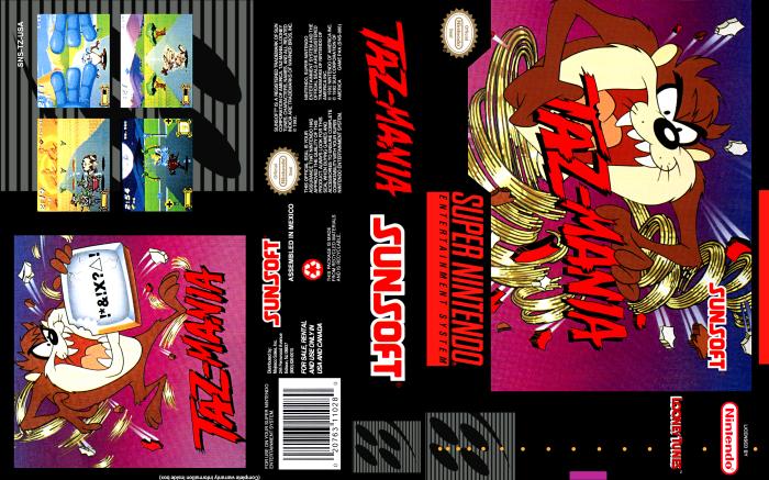 Taz-Mania (SNES) Full Cover
