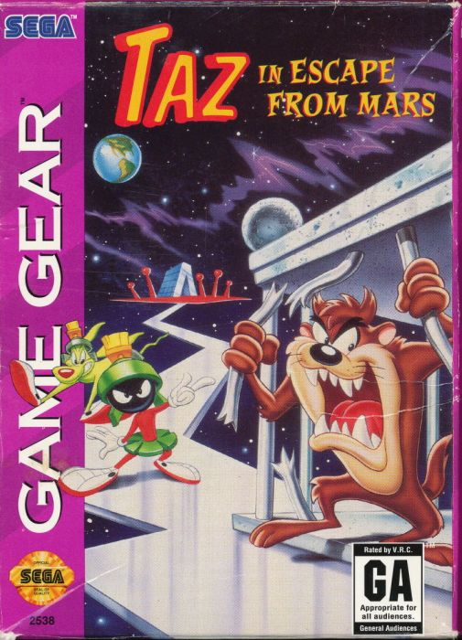 Taz in Escape From Mars Cover