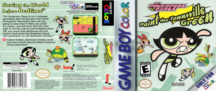 The Powerpuff Girls - Paint the Townsville Green (Gameboy Color) - Full Cover