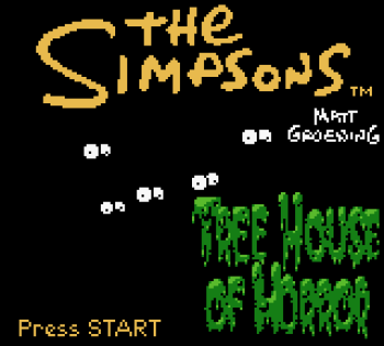 The Simpsons - Night of the Living Treehouse of Horror (Gameboy Color) - 02
