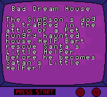 The Simpsons - Night of the Living Treehouse of Horror (Gameboy Color) - 03