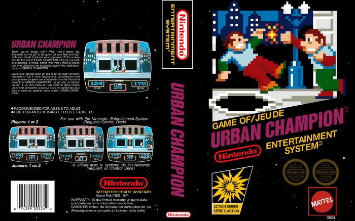 Urban Champion (NES) - Full Cover