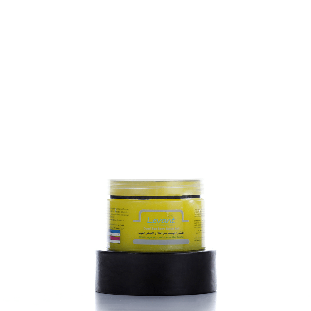 Dead Sea Salts Body Scrub – Lemon