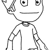 Early image of Guster, when the model was just a 3D stick figure and the game was just called Shift.