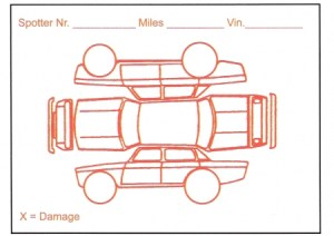 Vehicle Damage Report  Form #Red Alert , DealerStockRoom