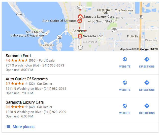 Google Possum Filters Out Dealerships With Multiple Listings