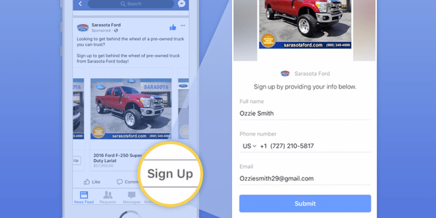 Dealers, We're Using Facebook's Brand New Ad Format To Drive VIN Leads Into Your CRM. Here's How: