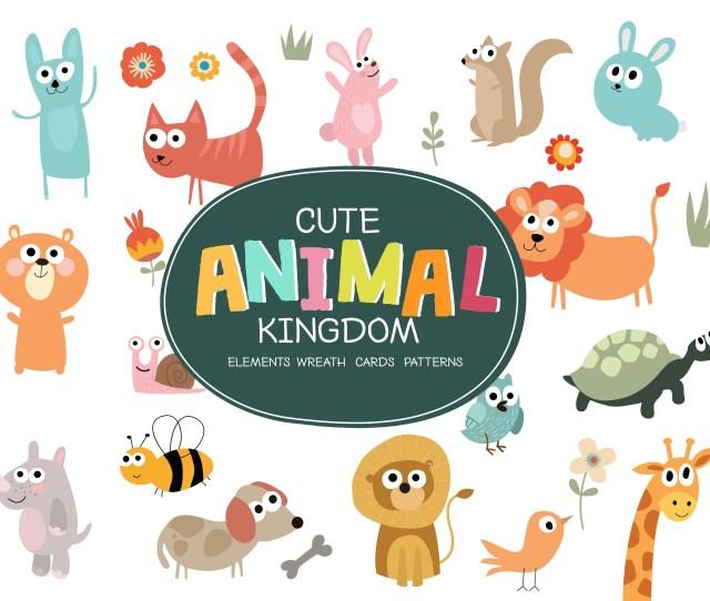 The Tiny Joy Kids Vector Bundle Cute Animals