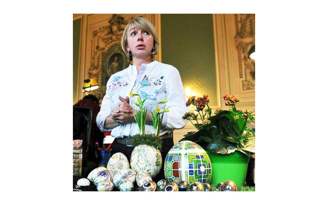projets clients site web-stand exposition pour oeufs décorés