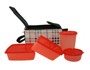Topware Lunch Box Food Grade Containers and Insulated Bag (4 Pcs.) Rs 110 shopclues