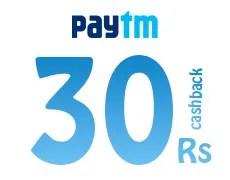 paytm Rs 30 cashback on Rs 60