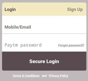 paytm wallet login