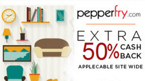 pepperfry 50% cashback payumoney