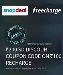 Recharge-rs100-or-more-from-freecharge-get-rs-200-snapdeal-discount-coupon-code