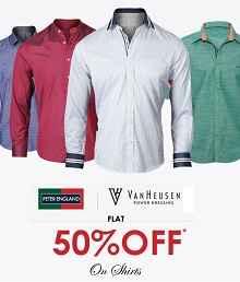 Peter-england-van-heusen-mens-shirts-flat-50-off-Trendin