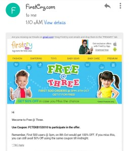 Firstcry-free-at-three-email-coupon-received