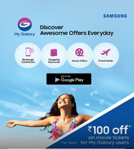 "MyGalaxy app loot- Grab Bookymyshow Winpin worth Rs 100 ""Absolutely Free"""