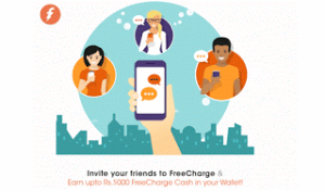 (Still Live) Freecharge Loot – Get Rs 50 cashback on Rs 20 recharge + refer and earn Rs 50 per friend (Upto Rs 5000)